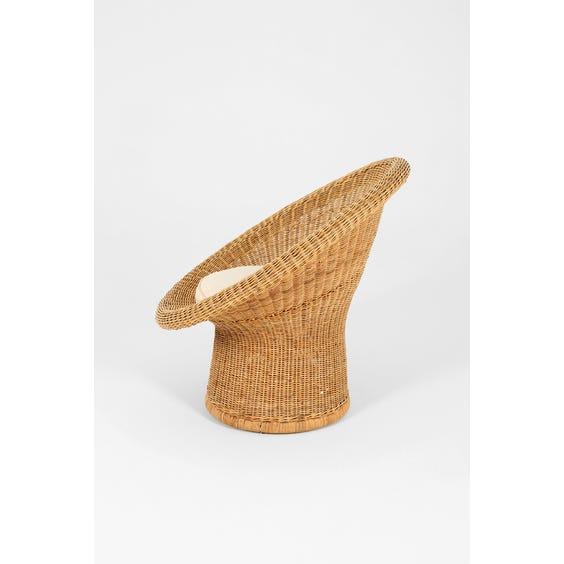 Circular wicker armchair image