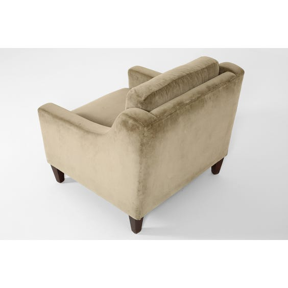 Pewter grey velvet armchair image