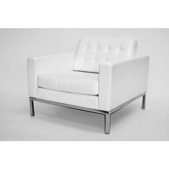 White leather Robin Day armchair image