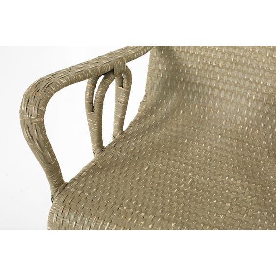 Grey green wicker armchair image