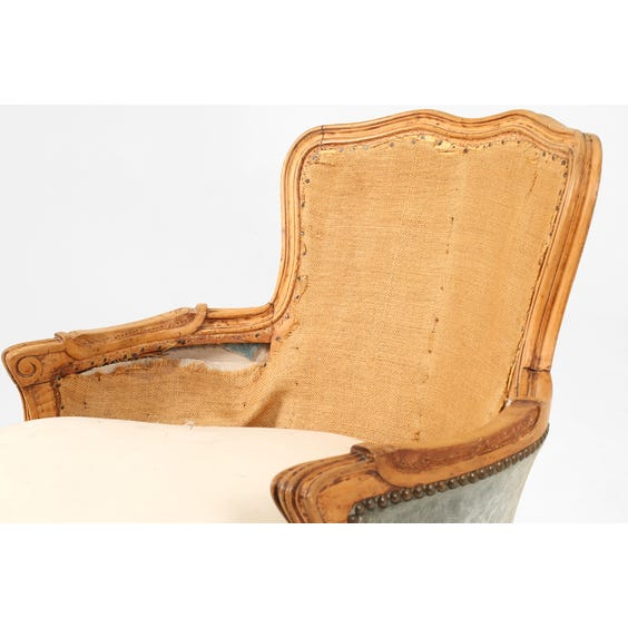 Vintage carved unupholstered armchair image