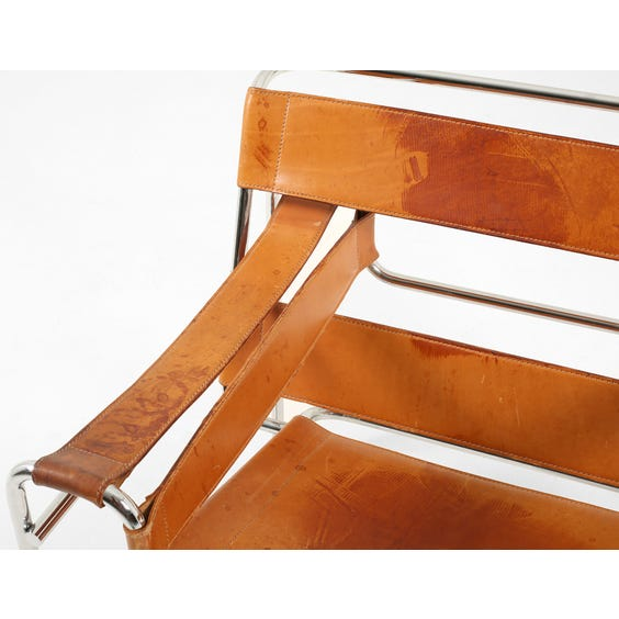 Tan leather 'Wassily' armchair image