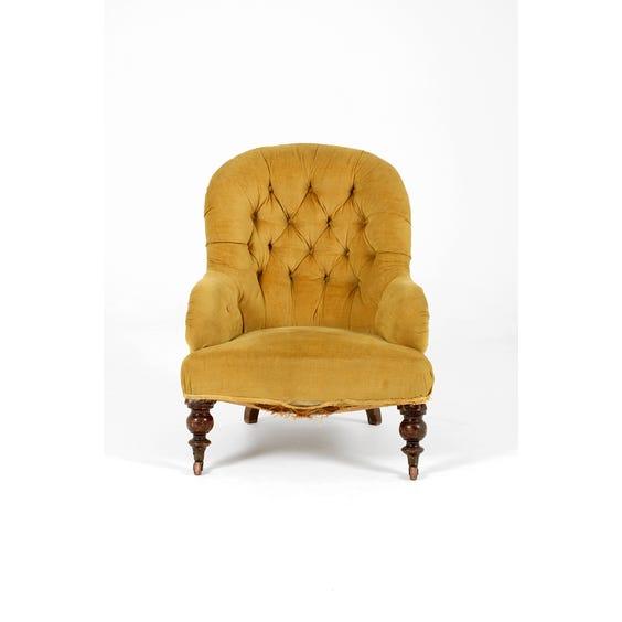 Victorian gold velvet tub armchair image