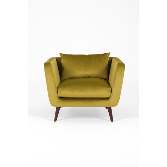 Modern moss green armchair image