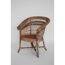 Vintage decorative rattan tub chair