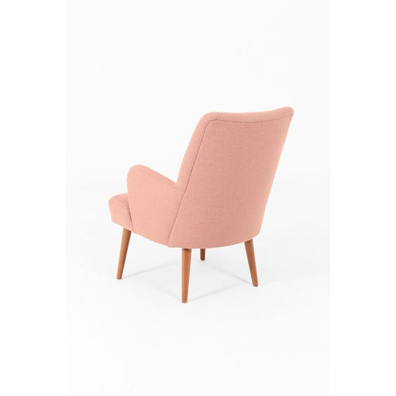 Dusky pink wool armchair image