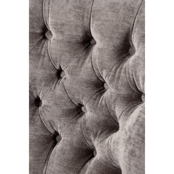 Vintage grey velvet armchair image