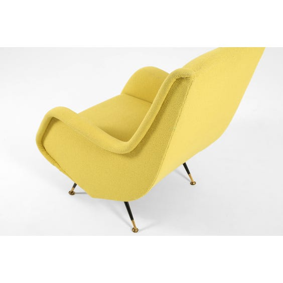 Midcentury acid yellow Italian armchair image