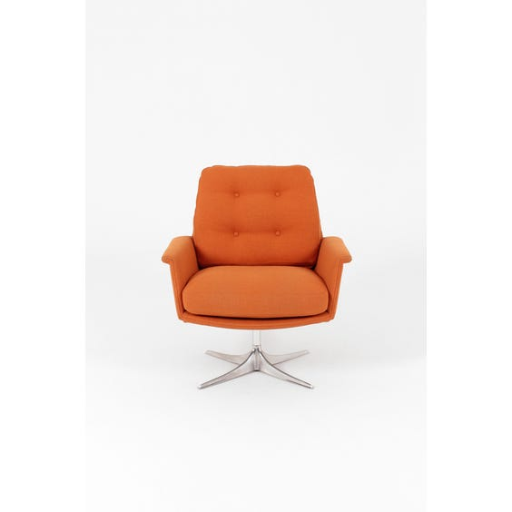 Midcentury pumpkin orange armchair image