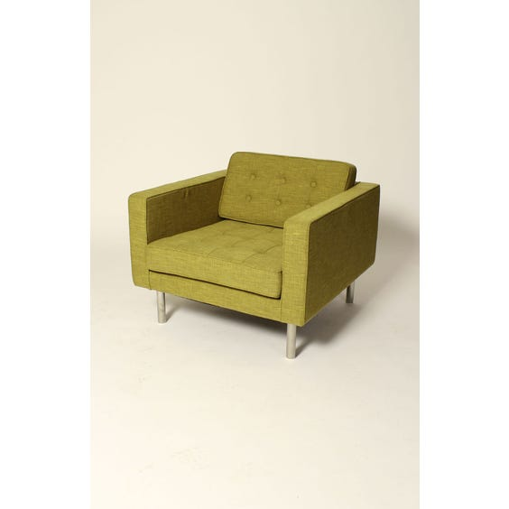 Lime gold Midcentury armchair image
