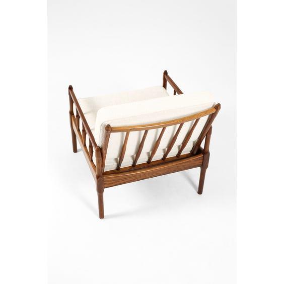 Danish rosewood boucle armchair  image