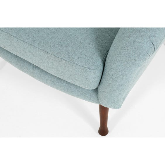 Midcentury powder blue armchair image