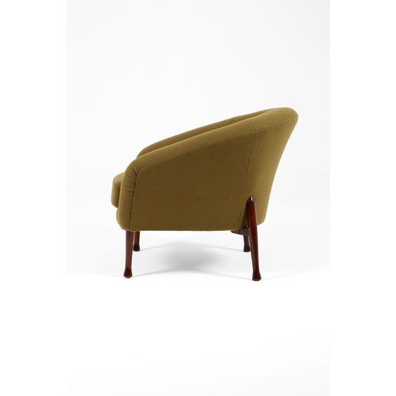 Midcentury moss green armchair image