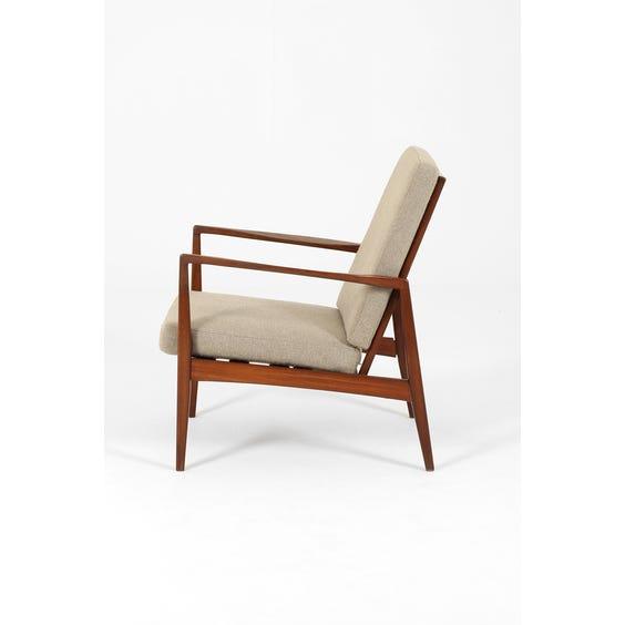 Midcentury Danish teak frame armchair image