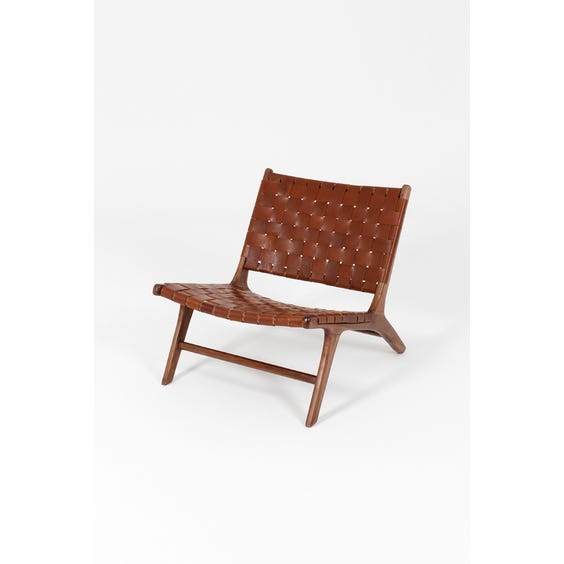Tan brown leather Gong chair image
