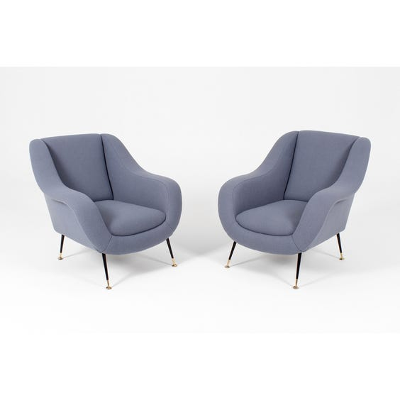 Midcentury Airforce blue Armchair image