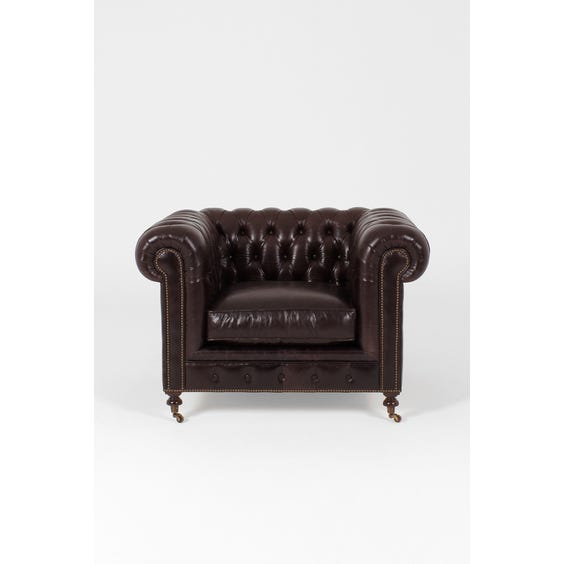 Traditional leather Chesterfield armchair image
