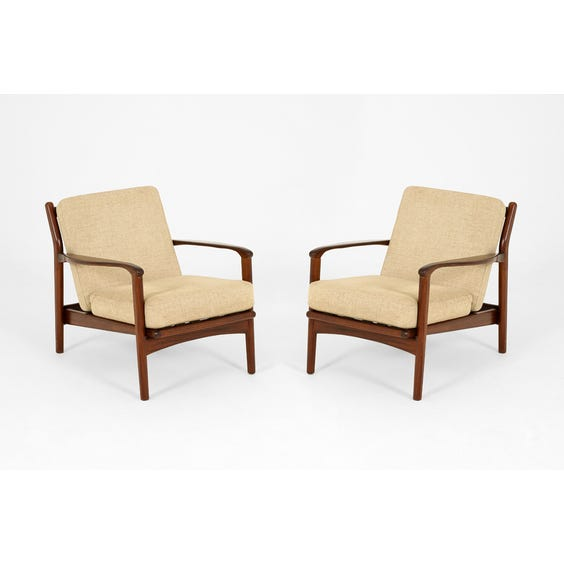 Midcentury Danish teak sand armchair image