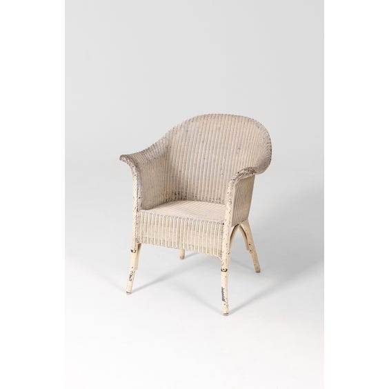 Vintage off white woven tub chair image