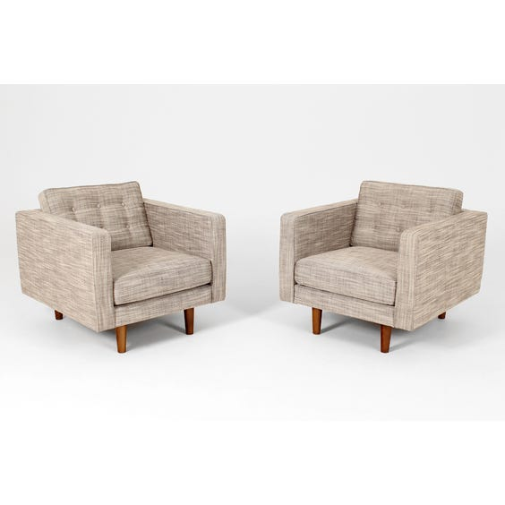 Modern pale grey square armchair image