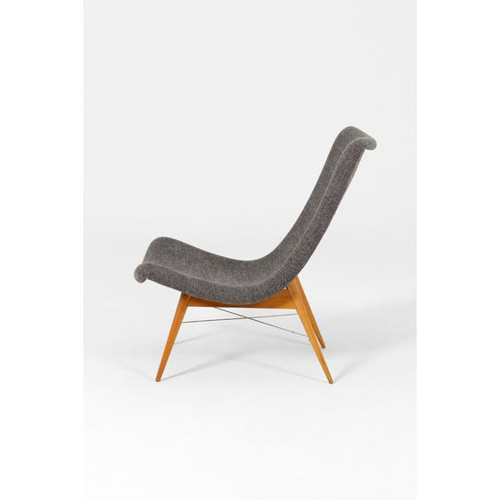 Midcentury Navratil grey easy chair image