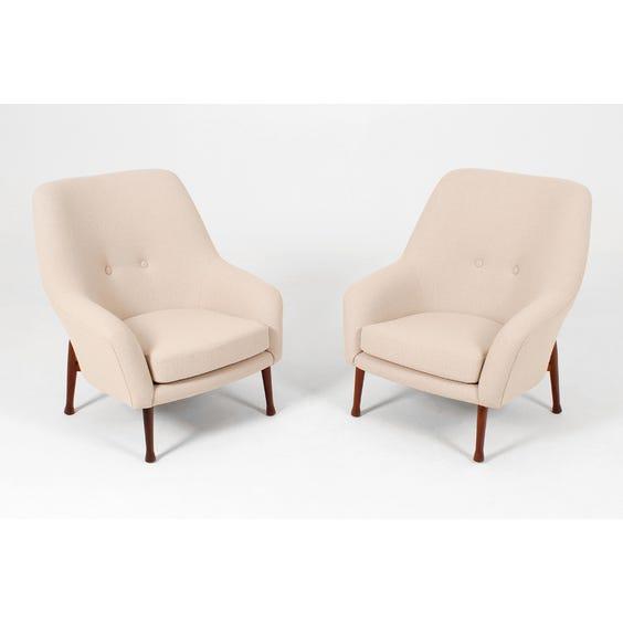 Midcentury limestone wool armchair image