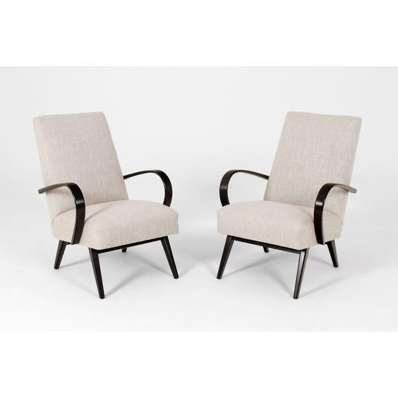 Stone linen loop arm armchair image