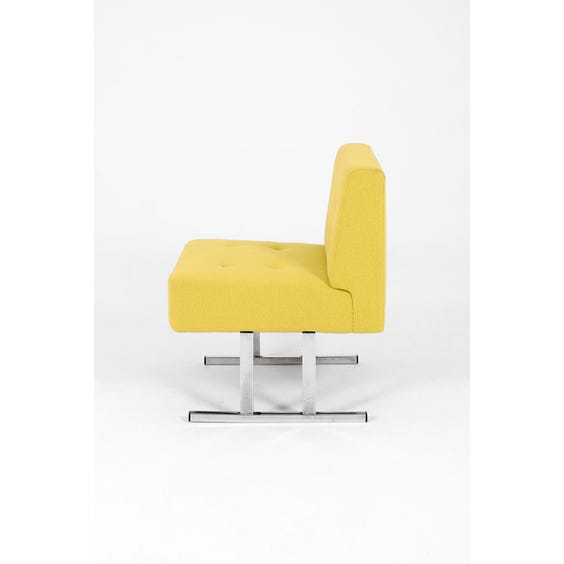 1970s acid yellow occasional chair image
