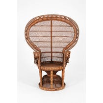 Original vintage peacock chair
