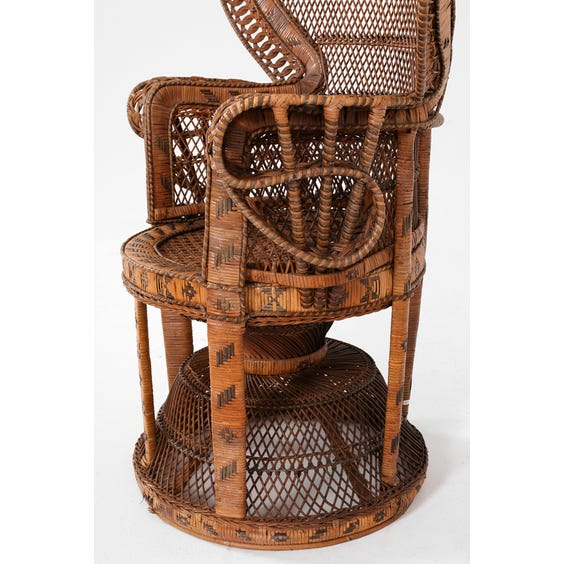 Original vintage peacock chair image