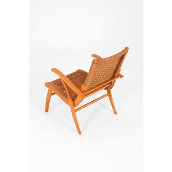 Dutch raffia lounge chair image
