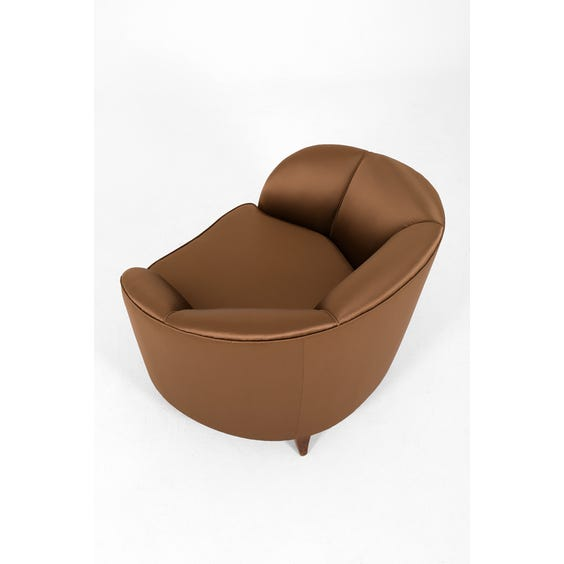 Italian dark bronze tub chair image