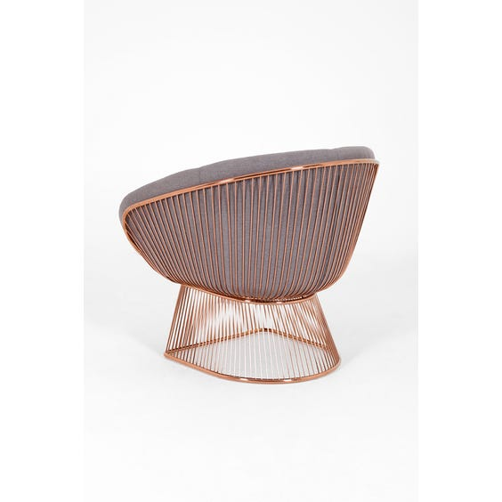 Large rose gold spoked armchair image