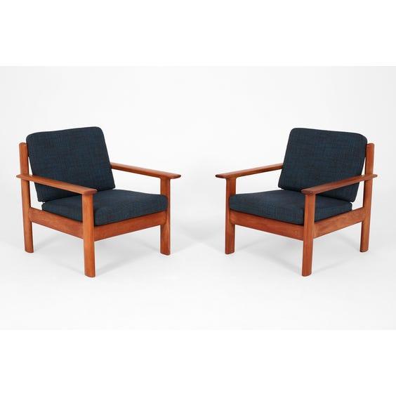 Vintage Danish teak framed armchair image