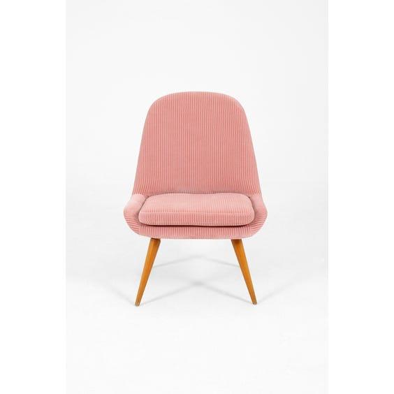Pink jumbo cord occasional chair  image