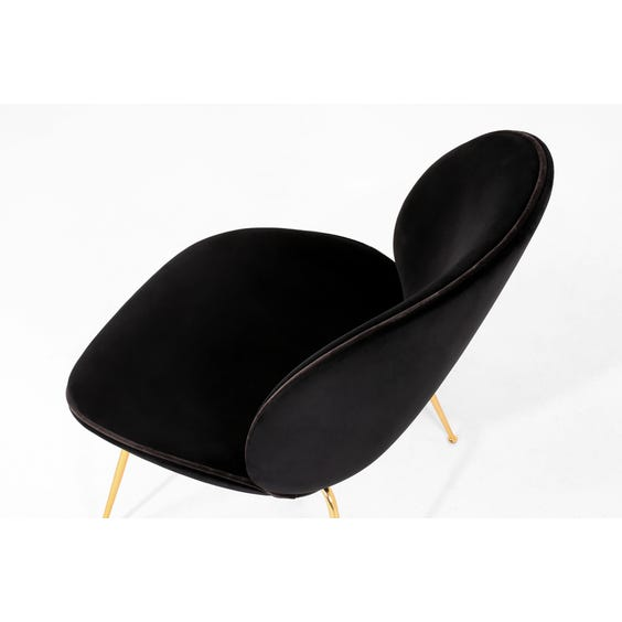 Black velvet Beetle lounge chair image