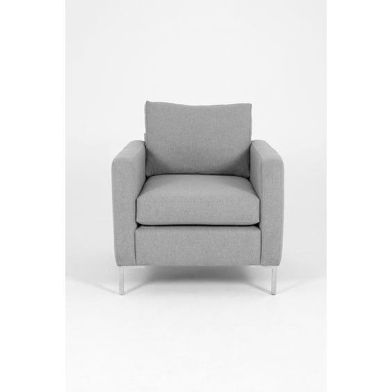 Modern grey wool armchair image