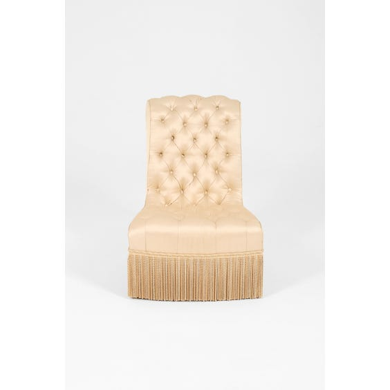French ivory satin armchair image