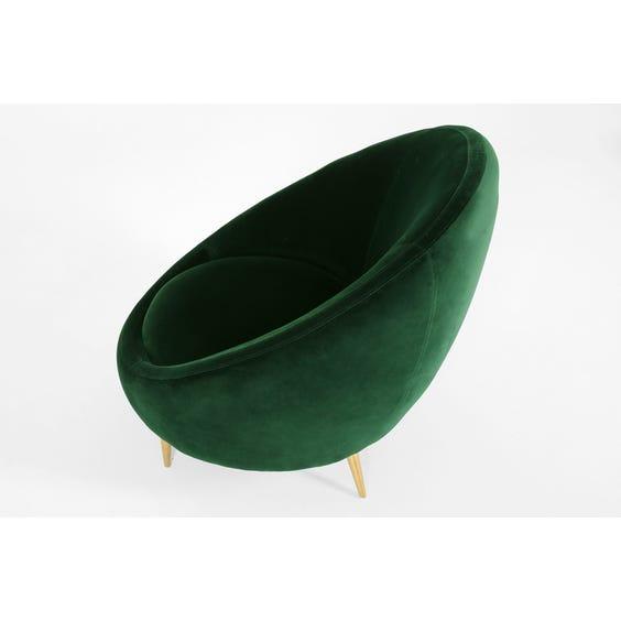 Emerald velvet tub armchair image