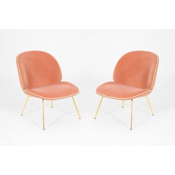 Blush pink velvet Beetle chair image