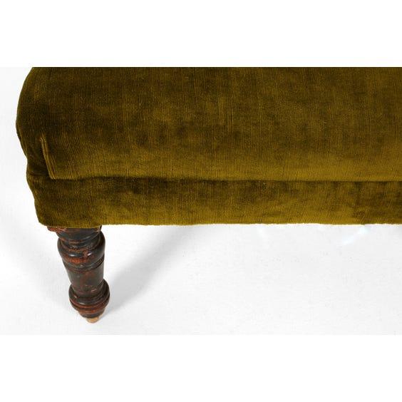 Green velvet corner armchair image