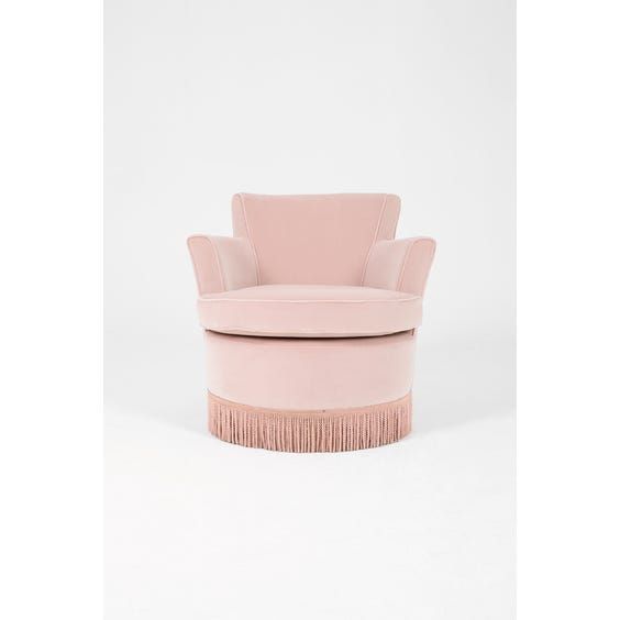 Powder pink velvet cocktail chair image