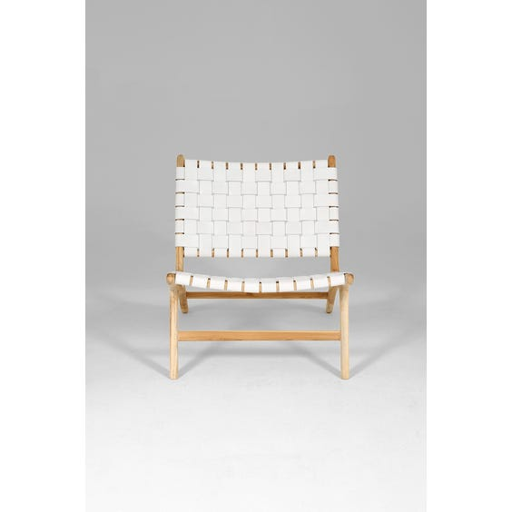 Bleached white leather chair image