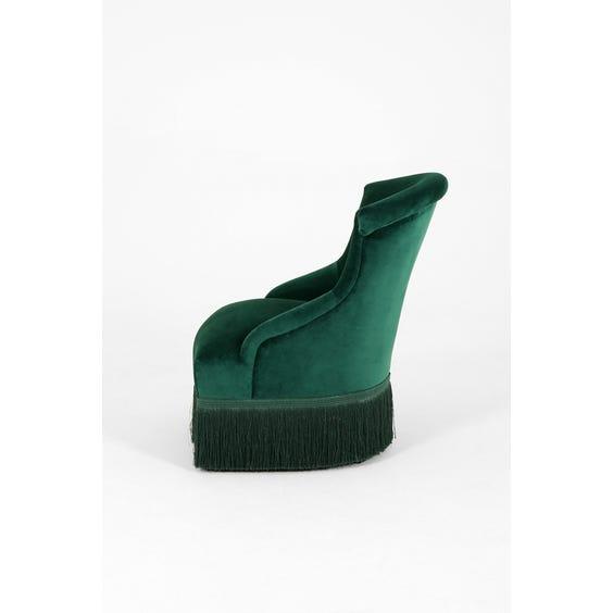 Emerald velvet high back chair image