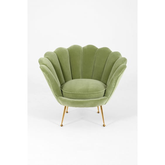 Pastel green scallop chair image