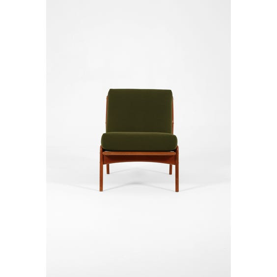 Midcentury Danish forest green lounge chair image