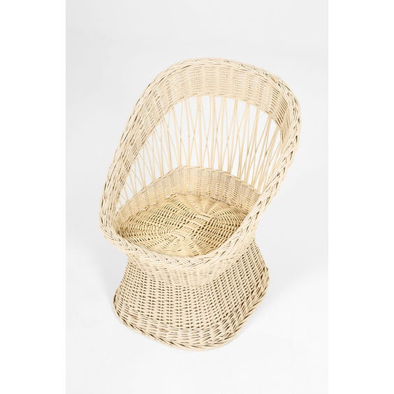 Midcentury wicker hourglass chair image