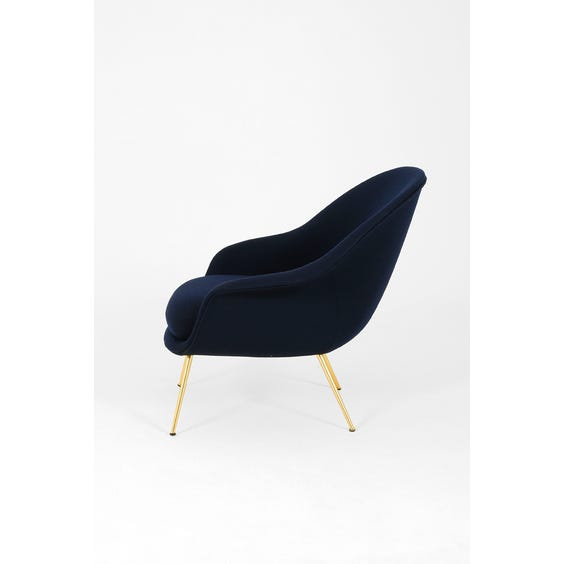 Midcentury navy wool Bat chair image