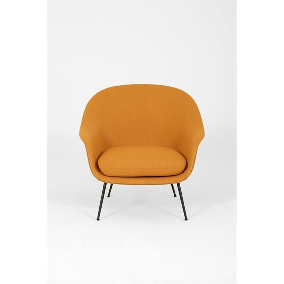 Midcentury mustard wool Bat chair image
