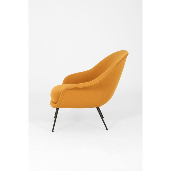 Midcentury mustard wool Bat chair image